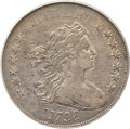 Early Dollars, 1798 $1 Large Eagle, Pointed 9 VF30 PCGS. CAC. B-27, BB-113,R.2....