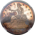 Proof Trade Dollars, 1874 T$1 PR64+ Cameo NGC....
