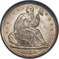 Seated Half Dimes, 1838 H10C Small Stars MS65 PCGS. CAC. V-2....