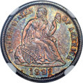 Seated Dimes, 1891-S 10C MS66 NGC. CAC....