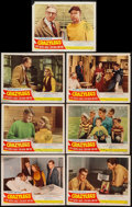 """Movie Posters:Sports, Crazylegs (Republic, 1953). Lobby Cards (7) (11"""" X 14""""). Sports.. ... (Total: 7 Items)"""