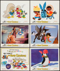 "Movie Posters:Animation, The Three Caballeros (Buena Vista, R-1977). Lobby Card Set of 6(11"" X 14""). Animation.. ... (Total: 6 Items)"