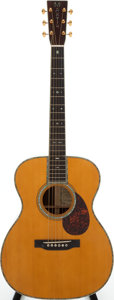 Musical Instruments:Acoustic Guitars, 2001 Martin OM-45GE Natural Acoustic Guitar, Serial # 826-243....