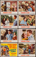 "Movie Posters:Adventure, Green Fire (MGM, 1954). Lobby Card Set of 8 (11"" X 14""). Adventure.. ... (Total: 8 Items)"