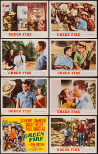 """Green Fire (MGM, 1954). Lobby Card Set of 8 (11"""" X 14""""). Adventure. ... (Total: 8 Items)"""
