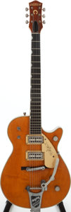 Musical Instruments:Electric Guitars, 1958 Gretsch 6121 Orange Semi-Hollow Body Electric Guitar, Serial #29356....