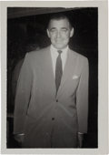 Movie/TV Memorabilia:Autographs and Signed Items, A Clark Gable Signed Black and White Snapshot, Circa 1960....