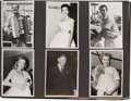 Movie/TV Memorabilia:Photos, A Large Collection of Movie Star Candid Black and White Snapshots,Circa 1950s....