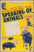 "Movie Posters:Short Subject, Speaking of Animals (Paramount, 1941). Stock One Sheet (27"" X 41"").Short Subject.. ..."