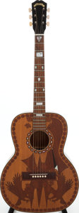 Musical Instruments:Acoustic Guitars, 1940s Gretsch Flat Top Clone Natural Acoustic Guitar. ...
