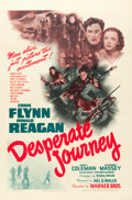"Movie Posters:War, Desperate Journey (Warner Brothers, 1942). One Sheet (27"" X 41"").. ..."