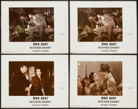 "Man Hunt (20th Century Fox, 1941). Color-Glos Lobby Cards (4) (11"" X 14""). Thriller. ... (Total: 4 Items)"