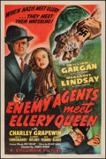 """Movie Posters:Mystery, Enemy Agents Meet Ellery Queen (Columbia, 1942). One Sheet (27"""" X41""""). Mystery.. ..."""