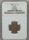 Indian Cents, 1866 1C VF20 NGC. FS-301. NGC Census: (5/480). PCGS Population(8/574). Mintage: 9,826,500. Numismedia Wsl. Price for prob...