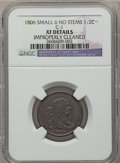 1806 1/2 C Small 6, No Stems -- Improperly Cleaned -- NGC Details. XF. C-1. NGC Census: (23/391). PCGS Population (76/28...