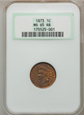 Indian Cents: , 1873 1C Open 3 MS65 Red and Brown NGC. NGC Census: (60/2). PCGSPopulation (55/3). Mintage: 11,676,500. Numismedia Wsl. Pri...