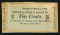 Obsoletes By State:Rhode Island, Newport, (RI) - W. C. Cozzens & Co. 10¢ May 15, 1837. ...