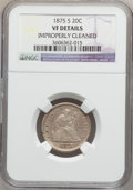 Twenty Cent Pieces: , 1875-S 20C -- Improperly Cleaned -- NGC Details. VF. NGC Census:(43/2283). PCGS Population (82/2878). Mintage: 1,155,000. ...