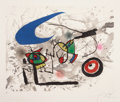 Prints:Contemporary, JOAN MIRÓ (Spanish, 1893-1983). Pygmées sous la lune, 1972.Color etching and aquatint. 21-1/8 x 26-3/4 inches (53.6 x 6...