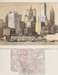 Prints, CHRISTO AND JEANNE-CLAUDE (American, b. 1935). Two lowerManhattan wrapped buildings (Project for 20 Exchange Place),19...
