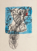 Prints:Contemporary, JOAN MIRÓ (Spanish, 1893-1983). Les essences de la terra,1968. Lithograph with hand-coloring. 10-3/8 x 9-3/4 inches (26...