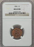 Indian Cents: , 1896 1C MS63 Red and Brown NGC. NGC Census: (51/199). PCGSPopulation (105/197). Mintage: 39,057,292. Numismedia Wsl. Price...