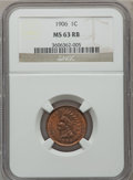 Indian Cents: , 1906 1C MS63 Red and Brown NGC. NGC Census: (116/556). PCGSPopulation (190/655). Mintage: 96,022,256. Numismedia Wsl. Pric...
