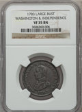 Colonials: , 1783 1C Washington & Independence Cent, Large Military BustVF35 NGC. NGC Census: (5/62). PCGS Population (24/173). ...