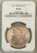 Morgan Dollars: , 1921 $1 MS66 NGC. NGC Census: (543/7). PCGS Population (335/7).Mintage: 44,690,000. Numismedia Wsl. Price for problem free...