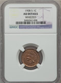 Indian Cents: , 1908-S 1C -- Whizzed -- NGC Details. AU. NGC Census: (47/548). PCGSPopulation (100/518). Mintage: 1,115,000. Numismedia Ws...