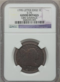 Large Cents: , 1795 1C Lettered Edge -- Obv Damage -- NGC Details. Good. S-75. NGCCensus: (1/33). PCGS Population (1/80). Mintage: 37,00...