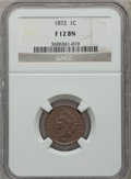 Indian Cents: , 1872 1C Fine 12 NGC. NGC Census: (28/547). PCGS Population(71/765). Mintage: 4,042,000. Numismedia Wsl. Price for problem ...