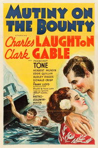"Mutiny on the Bounty (MGM, 1935). One Sheet (27"" X 41"") Style D"