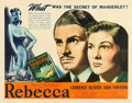 "Movie Posters:Hitchcock, Rebecca (United Artists, 1940). Half Sheet (22"" X 28"").. ..."