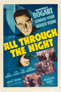"""Movie Posters:Film Noir, All Through the Night (Warner Brothers, 1942). One Sheet (27"""" X41"""").. ..."""