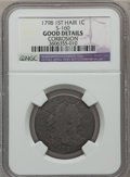 Large Cents: , 1798 1C First Hair Style -- Corrosion -- NGC Details. Good. S-160.NGC Census: (7/181). PCGS Population (5/188). Mintage: ...