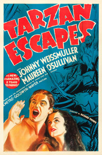 """Tarzan Escapes (MGM, 1936). One Sheet (27"""" X 41"""") Style D"""