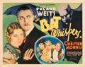 "Movie Posters:Horror, The Bat Whispers (United Artists, 1930). Half Sheet (22"" X 28"")....."