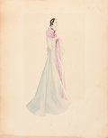 "Movie Posters:Academy Award Winners, Gone with the Wind (MGM, 1939). Original Walter Plunkett/ Scarlett O'Hara Costume Sketch (18"" X 23"").. ..."