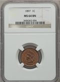 Indian Cents: , 1897 1C MS64 Brown NGC. NGC Census: (81/47). PCGS Population(45/6). Mintage: 50,466,328. Numismedia Wsl. Price for problem...