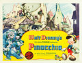 "Movie Posters:Animation, Pinocchio (RKO, 1940). Half Sheet (22"" X 28"") Style A.. ..."