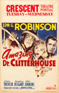 "Movie Posters:Crime, The Amazing Dr. Clitterhouse (Warner Brothers, 1938). Window Card(14"" X 22"").. ..."