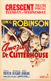 """The Amazing Dr. Clitterhouse (Warner Brothers, 1938). Window Card (14"""" X 22"""")"""