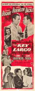 "Movie Posters:Film Noir, Key Largo (Warner Brothers, 1948). Insert (14"" X 36"").. ..."