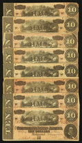 Confederate Notes:1864 Issues, T68 $10 1864 Eight Fine Examples.. ... (Total: 8 notes)