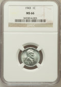 Lincoln Cents: , 1943 1C MS66 NGC. NGC Census: (3432/2551). PCGS Population(4698/1577). Mintage: 684,628,672. Numismedia Wsl. Price for pro...