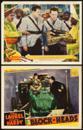 """Movie Posters:Comedy, Block-Heads and Other Lot (MGM, 1938). Lobby Cards (2) (11"""" X14"""").. ... (Total: 2 Items)"""