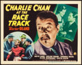 "Movie Posters:Mystery, Charlie Chan at the Race Track (20th Century Fox, 1936). TitleLobby Card (11"" X 14"").. ..."