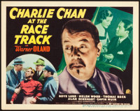 """Charlie Chan at the Race Track (20th Century Fox, 1936). Title Lobby Card (11"""" X 14"""")"""