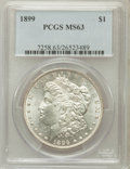 Morgan Dollars: , 1899 $1 MS63 PCGS. PCGS Population (3521/4962). NGC Census:(2556/3476). Mintage: 330,846. Numismedia Wsl. Price for proble...
